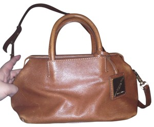 Brian Atwood Leather Satchel in Brown