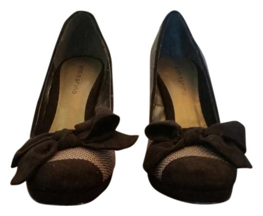Ann Marino Tea Length Bow Size 7 Never Worn Black & White Pumps