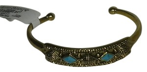 Lucky Brand Lucky Brand semi precious turquoise stone thin cuff