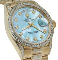 Rolex Rolex Presidential Day Date 36MM Baby Blue Diamond 18 KT Yellow Gold Image 0
