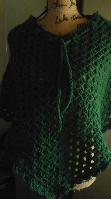 designed and crocheted by me Clothing Cover Up Ladies Pradtical Cape Image 1