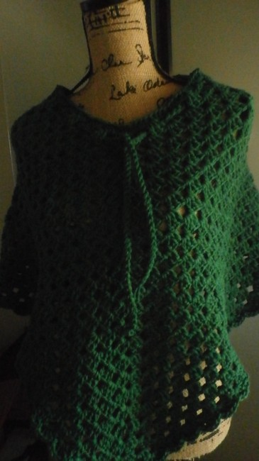 designed and crocheted by me Clothing Cover Up Ladies Pradtical Cape Image 3