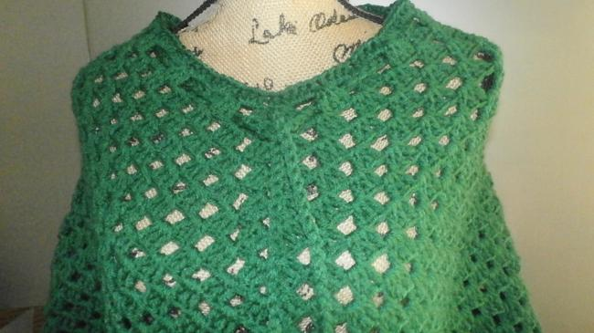 designed and crocheted by me Clothing Cover Up Ladies Pradtical Cape Image 4