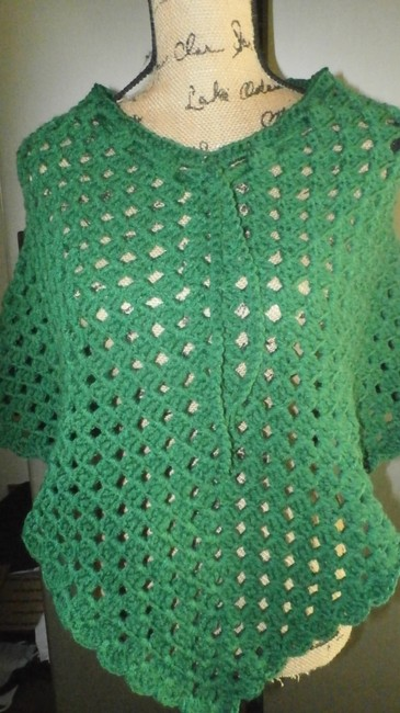 designed and crocheted by me Clothing Cover Up Ladies Pradtical Cape Image 5