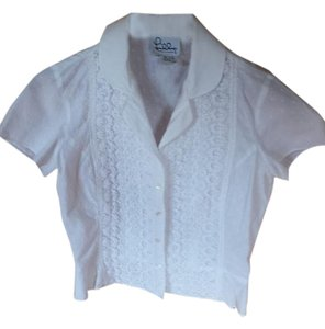 Lilly Pulitzer Vintage Lace Top white