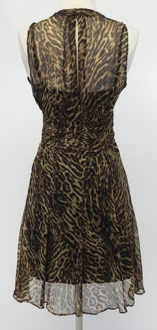 Karen Millen short dress Sheer Leopard Print on Tradesy
