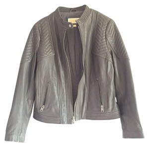 MICHAEL Michael Kors Grey, gray Leather Jacket
