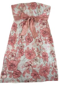 Sequin Hearts short dress Pink/white Floral Spring Pink on Tradesy