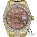 Rolex Rolex Presidential Day Date 36MM Salmon Dial Diamond 18KT Yellow Gold Image 1