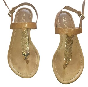 ALDO Beige and gold Sandals