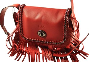 Coach Leather Dakotah Fringe Shoulder Bag