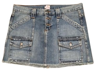 Joie Cotton Mini Skirt Denim