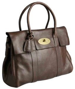 Mulberry Bayswater Leather Tote in Chocolate