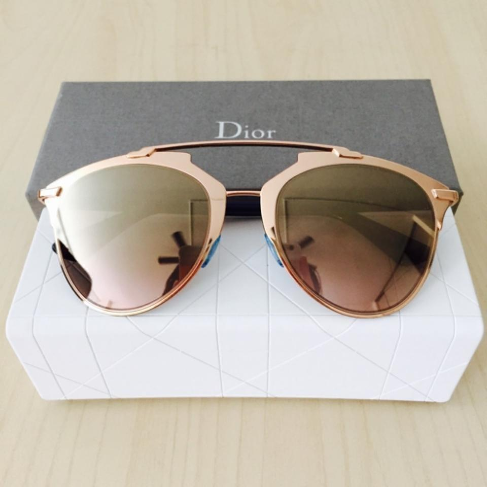 79d550f6d3 Dior Reflected 52MM Mirror Aviator Sunglasses Rose Gold Gold Shaded Mirror  Image 10. 1234567891011
