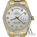 Rolex Rolex Presidential Day-Date White Dial Diamond 18KT Yellow Gold Image 1