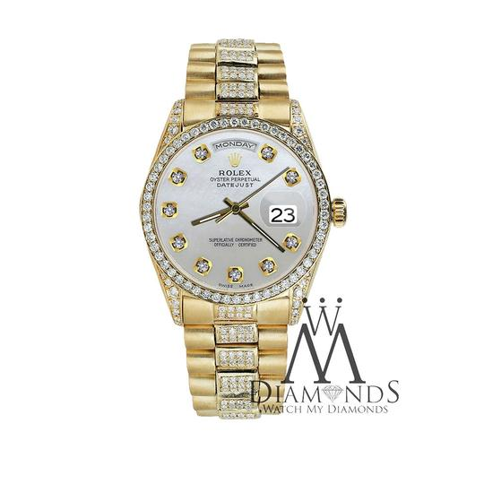 Rolex Rolex Presidential Day-Date White Dial Diamond 18KT Yellow Gold Image 4