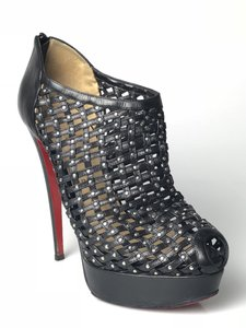 4fe9412c317 Christian Louboutin Black Kasha Caged Booty Platforms Size EU 39 (Approx.  US 9) Regular (M, B) 77% off retail