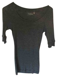 Caslon Soft Comfortable Versatile T Shirt Gray