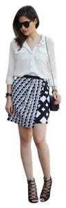 Peter Pilotto Mini Mini Skirt black and white