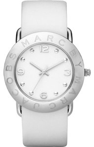Marc Jacobs MARC BY MARC JACOBS AMY WHITE DIAL LEATHER BAND LADIES WATCH MBM1136