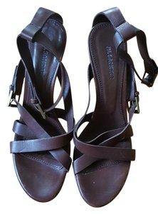 Jil Sander Wood Platform High Heel Brown Sandals