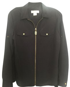 Michael Kors Zipper Trendy Summer Black Jacket