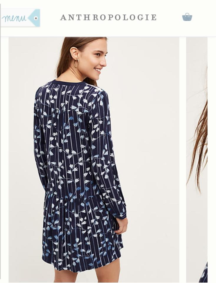 e30a268e0aac Anthropologie Blue *price Drop* Semele Shirtdress By Tiny Above Knee ...