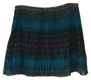 Broadway & Broome Mini Skirt Blue, teal and green
