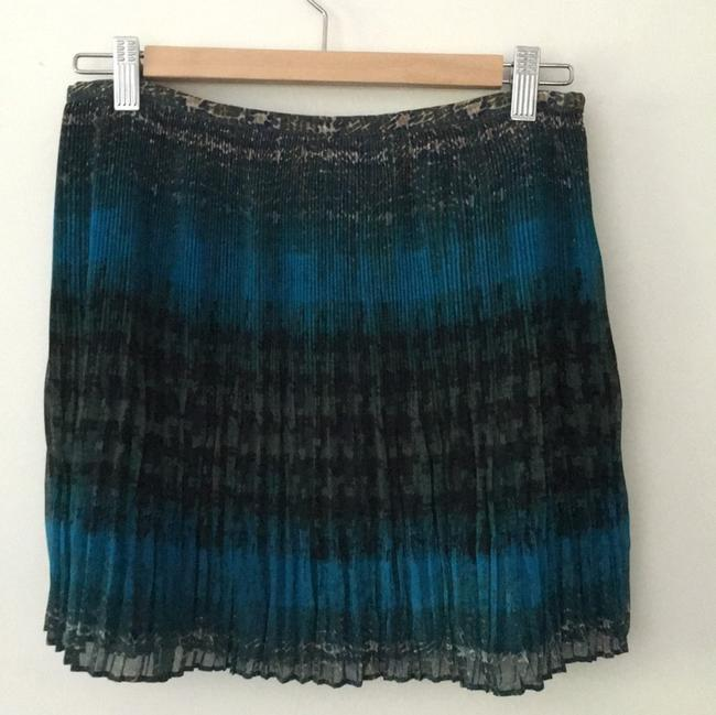 Broadway & Broome Mini Skirt Blue, teal and green Image 1