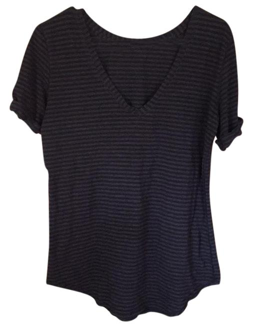 Item - Black and Gray Thin Stripe Love Activewear Top Size 6 (S, 28)