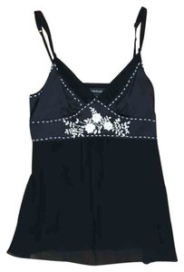 bebe Silk Cami Top Black