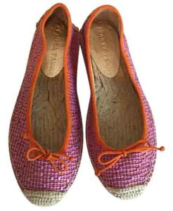 Ivanka Trump Espadrille Purple and Orange Flats