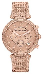 Michael Kors NWT Chronograph Parker Rose Gold-Tone Watch MK5663