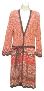 Nine West Chevron Duster Cotton Cardigan