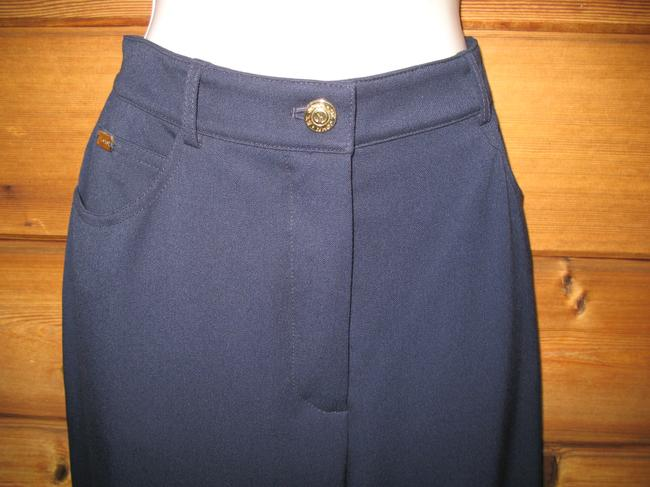 St. John Stretch Classic Summer Straight Pants Dark Blue Image 2