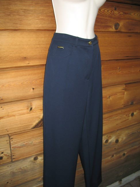 St. John Stretch Classic Summer Straight Pants Dark Blue Image 3