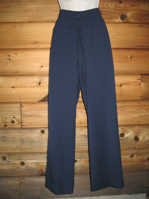 St. John Stretch Classic Summer Straight Pants Dark Blue Image 6