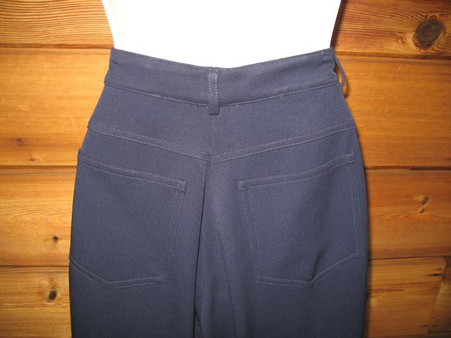 St. John Stretch Classic Summer Straight Pants Dark Blue Image 7