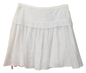 Rag & Bone Pleated A-line Size 0 Skirt Bright White