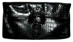 Nine West Black Alligator Theme Clutch