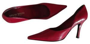 Bisou Bisou Faux Leather Red Pumps