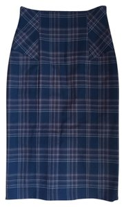 Victoria's Secret Pencil Empire Waist Skirt Black and Brown Plaid