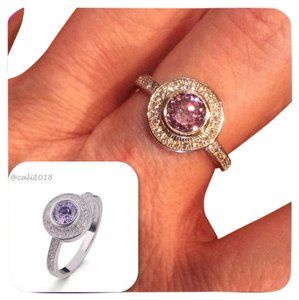 Other Amethyst And White Topaz 925 Silver Ring