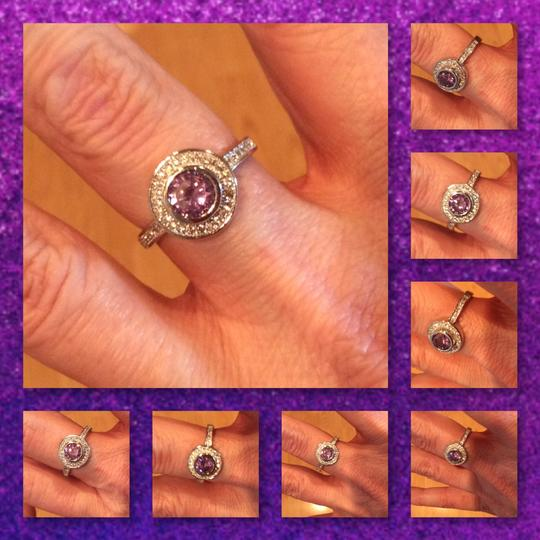 Other Amethyst And White Topaz 925 Silver Ring Image 2