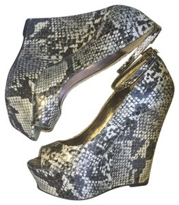 JustFab Snake Print Wedges