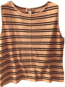 Chico's Top Tan with black stripes