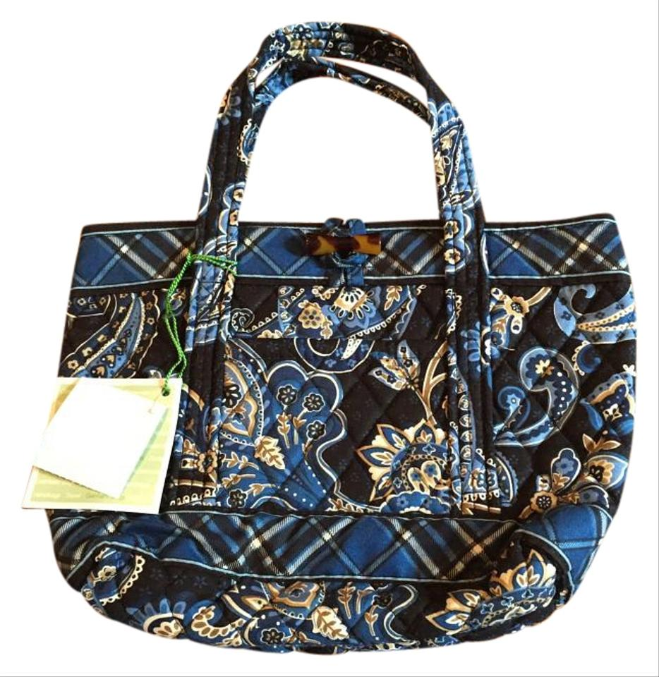 Vera Bradley Little Toggle Windsor Navy Cotton Tote - Tradesy 7cc777a7173f0