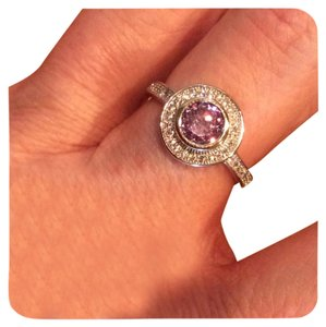 Amethyst And White Topaz 925 Silver Ring