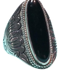 Other vintage sterling silver 925 Ring with black onyx Stone