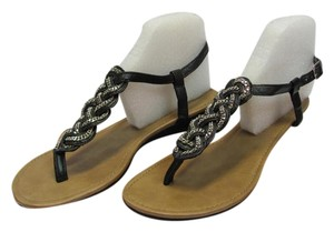 Soda Blu Size 9.50 M Black, Neutral, Silver Sandals